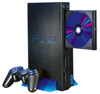 Original PlayStation 2 in vertical configuration